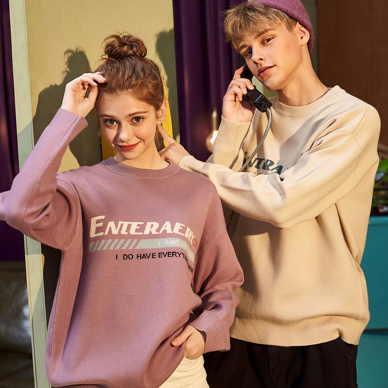 Autumn and Winter New Couple Sweater Korean Version Loose Couple Dress Tide 070018