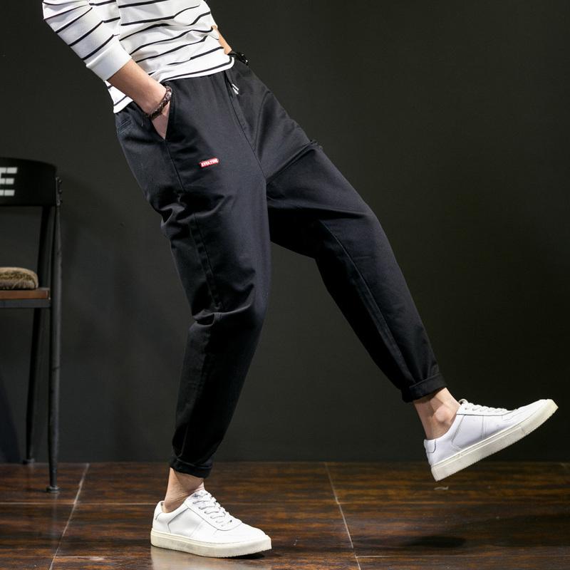 唐狮2018秋季新款休闲裤男社会小伙哈伦裤韩版潮流嘻哈小脚九分裤
