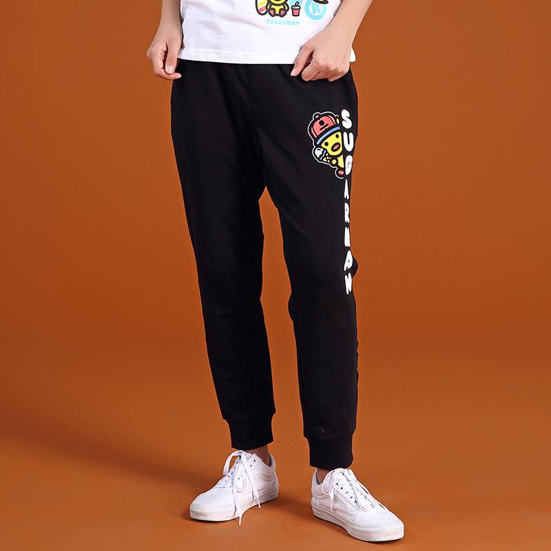 SUGARMAN糖人香港潮牌小黄鸭吃冰淇淋造型成人休闲裤长裤男女同款