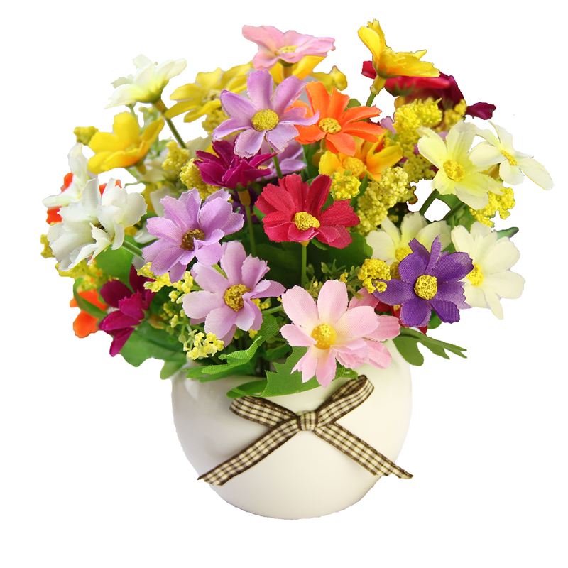 Silk flowers dried flowers bouquets artificial flowers for Artificial flowers decoration home