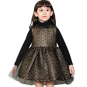 连衣裙新款中大童背心裙