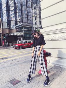 实拍+小视频 韩版时尚百搭港风帅气夏季新款 套装