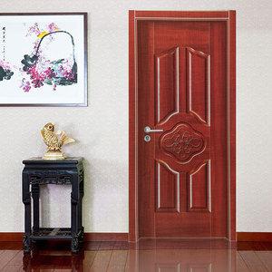 2019新款新品定制白色烤漆橡木门实木门房间门卧室门套装门室内门