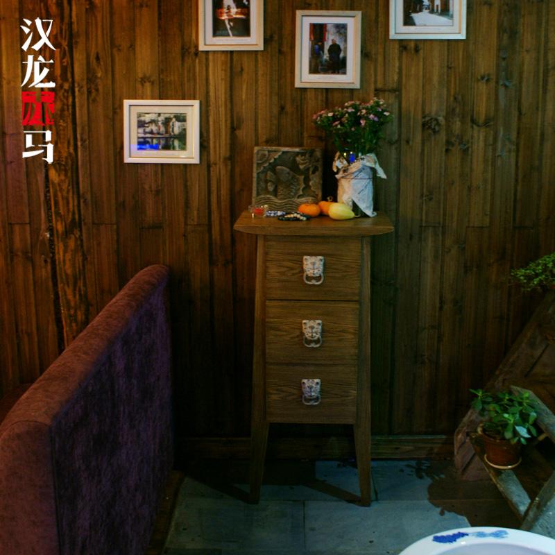 汉龙赤马新中式仿古柜J088-1
