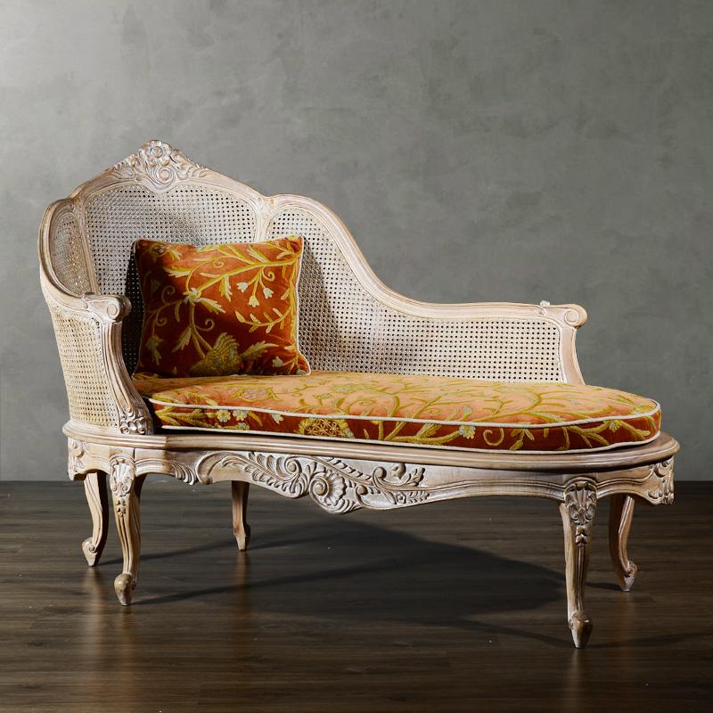 奇居良品布艺贵妃椅JJ163a
