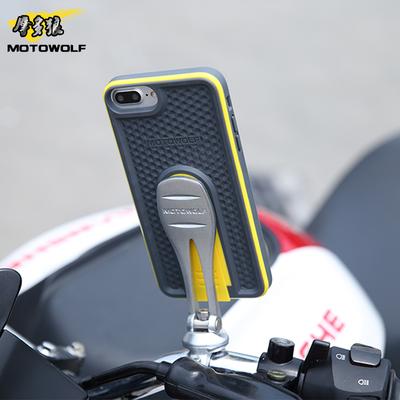 摩托车电动iPhone手机支架苹果手机壳GPS外卖车载导航仪改装配件