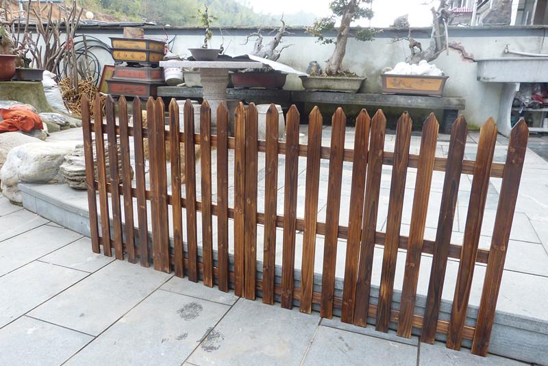防腐木栅栏/碳化篱笆/花园围栏/白色护栏/庭院花坛装饰/宠物围栏