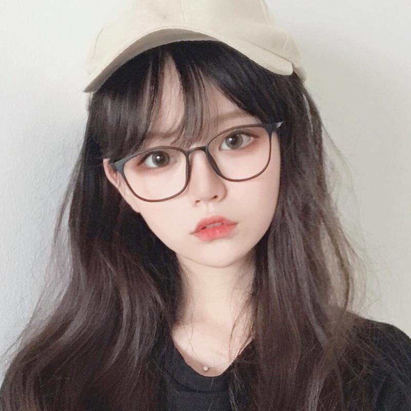 韩版平面镜配近视眼镜框女眼睛架男无度数防蓝光眼镜防辐射护目潮