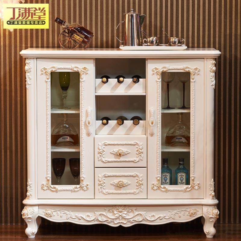 丁满堂家具法式酒柜欧式玄关柜餐边柜客厅隔断柜白色烤漆简约现代