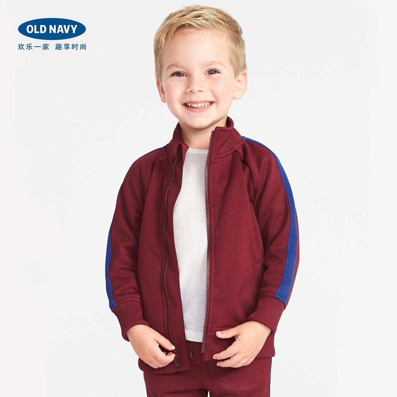 Old Navy男婴幼童 学院风撞色插肩袖夹克儿童外套291198秋装新款W