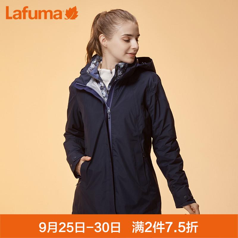 法国LAFUMA乐飞叶女士户外保暖三合一防泼水冲锋衣夹克LFJ06D301
