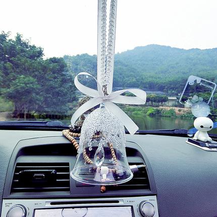 汽车挂件车内挂饰风铃汽车吊坠挂饰女镶钻可爱车内饰创意生日礼物
