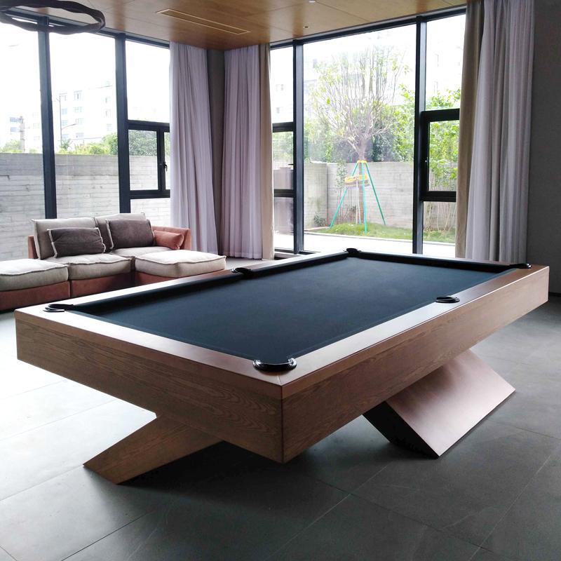 标准台球桌成人家用雕刻台球厅订制花式九球美式中式黑8桌球台