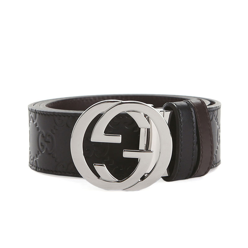 320ab1b088f ... GUCCI Gucci men s belt double G leather belt double-sided pin buckle belt  473030 ...