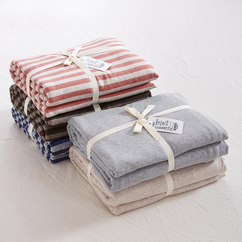 宝贝年代 针织棉床单床笠 天竺棉日式全棉纯色纯棉A类床品