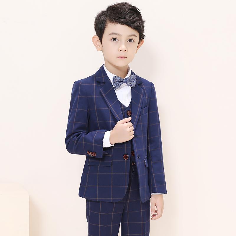 儿童西装花童礼服男童小西服三件套装韩版春秋宝宝表演出西装外套
