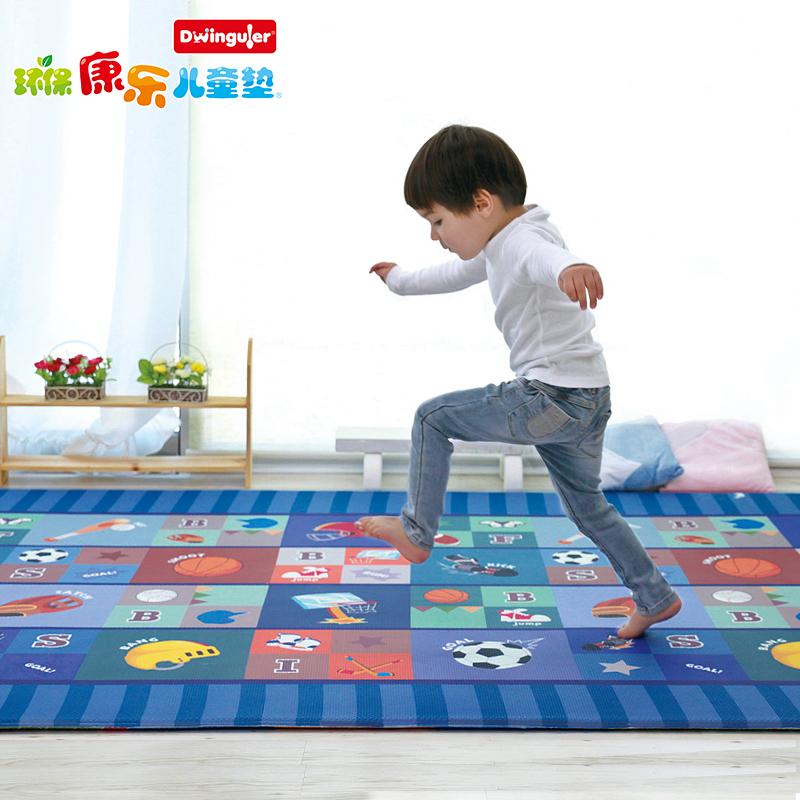 Dwinguler环保康乐儿童垫韩国爬爬地垫PVC宝宝爬行垫家用游戏地垫