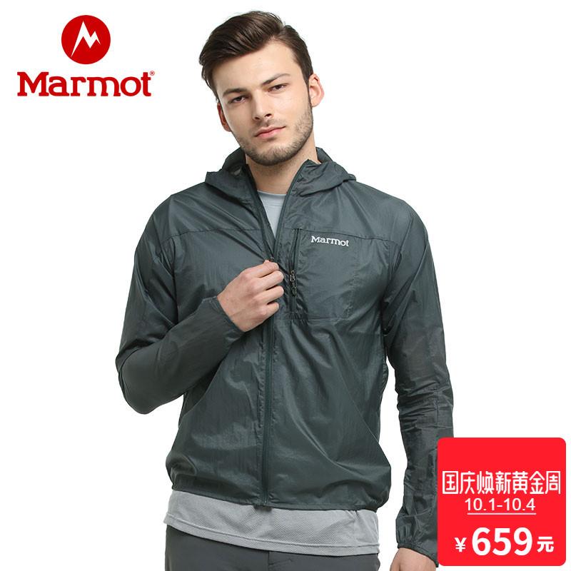 marmot-土拨鼠18新款户外防晒防风透气运动吸汗男士皮肤衣S51190
