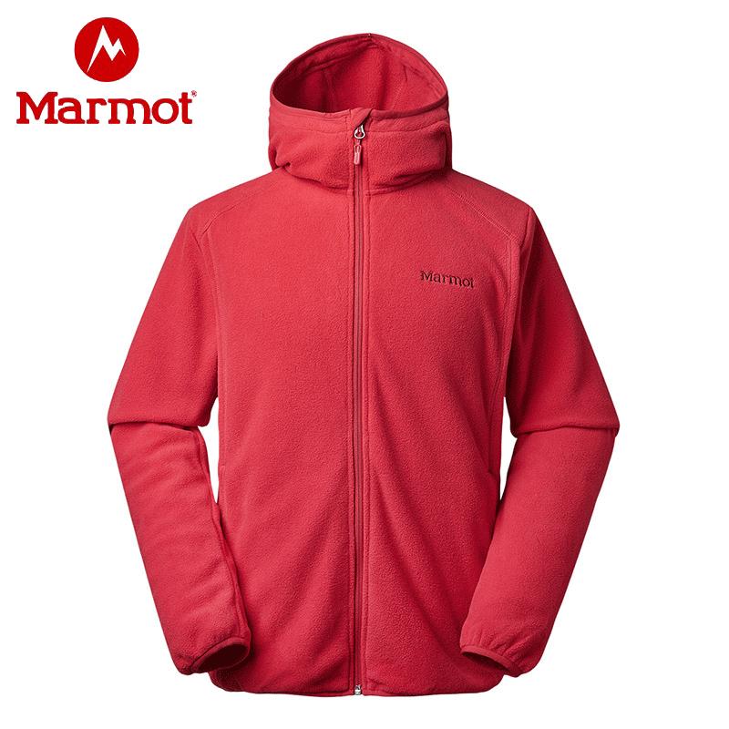 Marmot 土拨鼠 V83840 户外运动 男式连帽抓绒夹克 双重优惠折后¥199包邮 4色可选