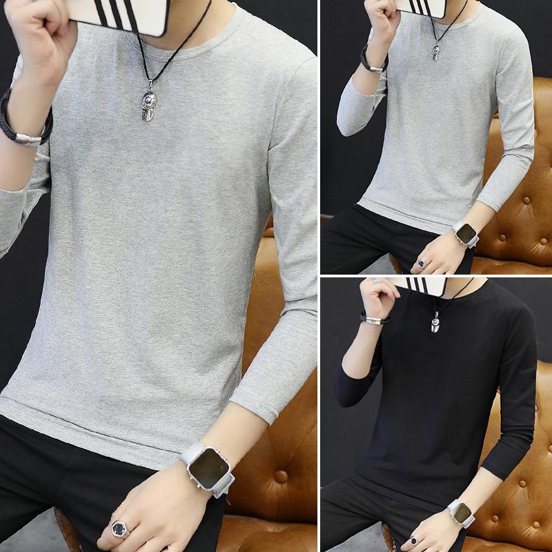Цвет: Длинным рукавом шею сплошной цвет/серый+серый+черный