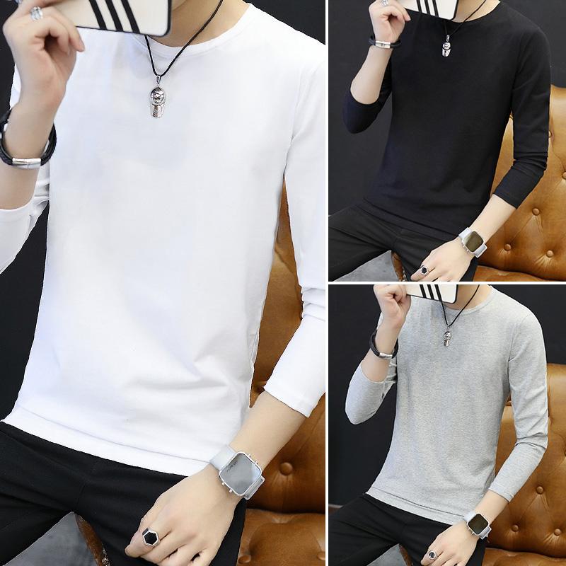 Цвет: Длинный рукав круглый сплошной Цвет/белый+черный+серый