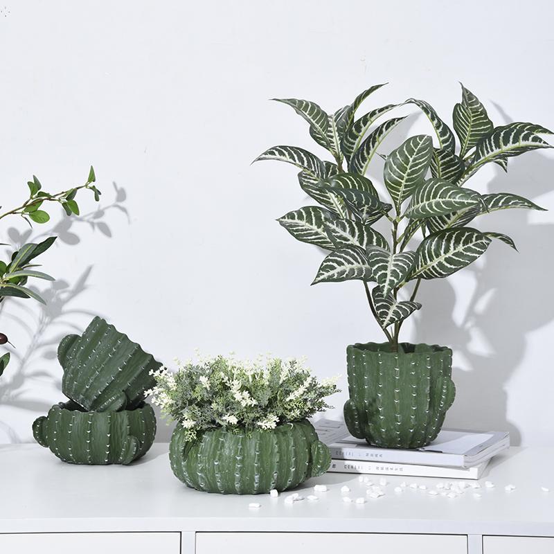 仙人掌造型多肉盆 北欧ins室内装饰花器客厅庭院桌面摆设水泥花盆