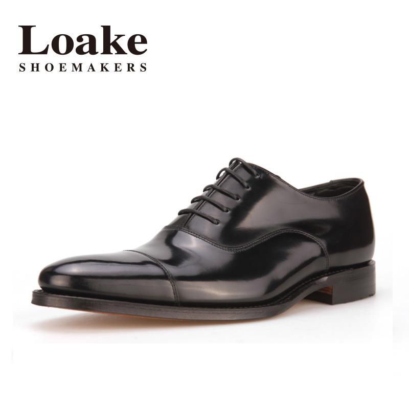 Loake牛皮固特异手工皮鞋商务正装牛津鞋smith