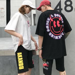 实拍8007# 马来西亚新加坡泰国台湾女装情侣装小恶魔印花上衣男女 t恤 (单件价格)