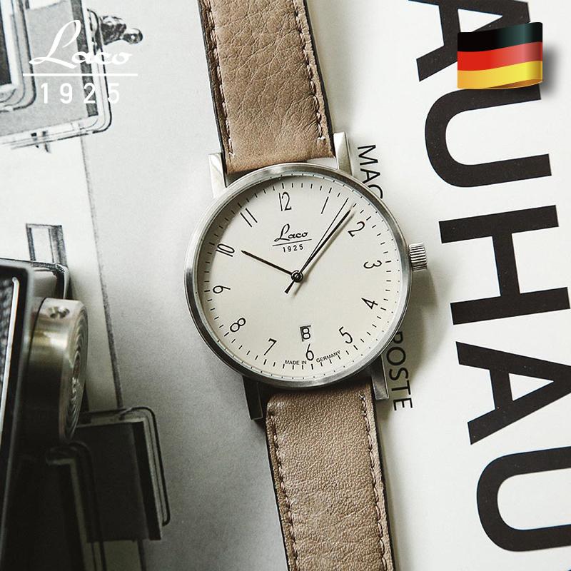 laco朗坤德国原装进口自动机械表男手表女士商务简约情侣腕表