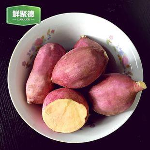 新鲜现挖红薯农家自种 富硒地瓜山芋红心甜苏薯 5斤无公害生番薯
