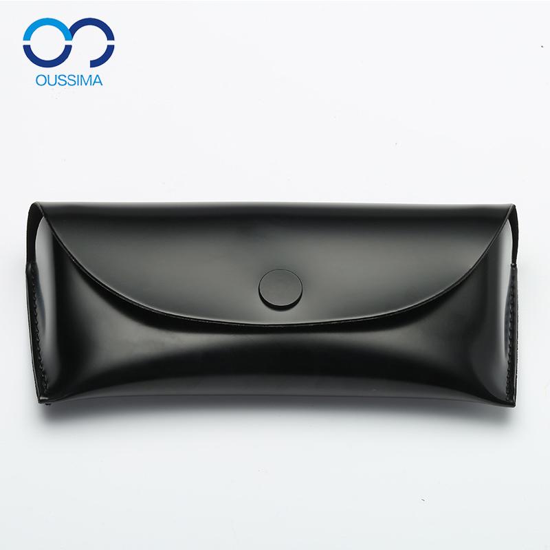 近视墨镜太阳眼镜盒小清新男女款韩国简约便携皮革创意超大收纳包