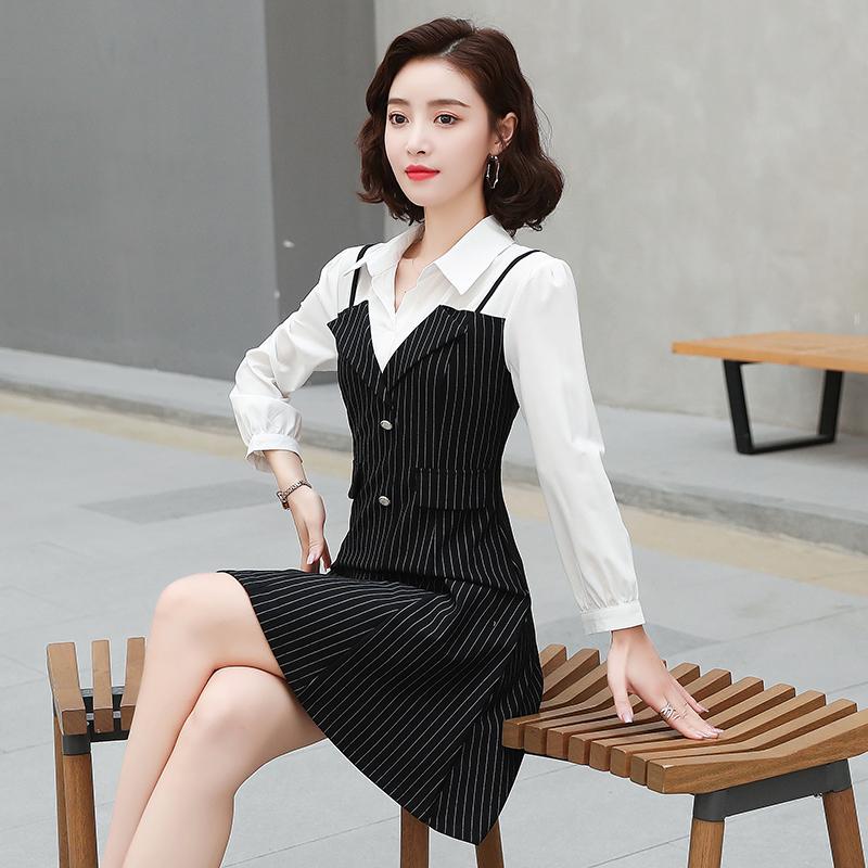 长袖连衣裙女2020秋季新款气质女装