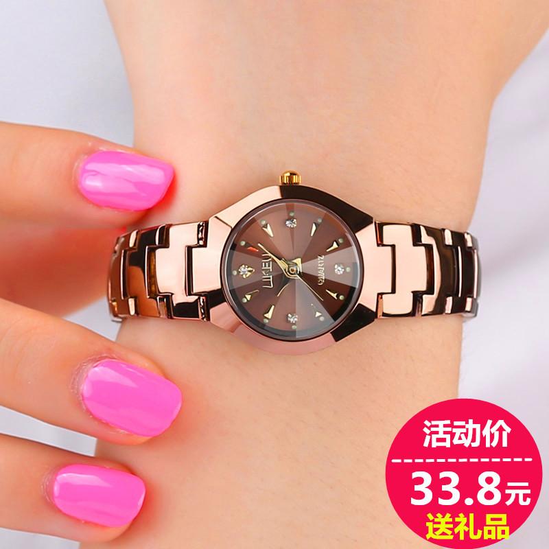 韩版手表女学生玫瑰金韩国时尚潮流复古简约男表女表情侣手表一对
