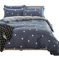 全棉简约床上四件套220x240纯棉2x2.3米被套2.2x2.4米1.8m床双人
