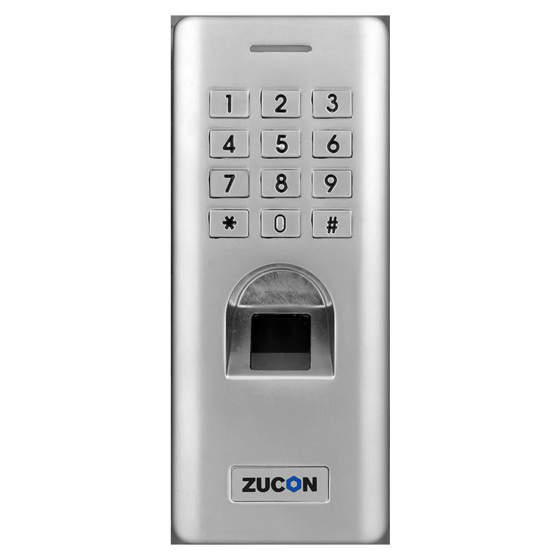 ZUCON F14门禁系统防水指纹一体机 密码开锁 室外防水指纹机