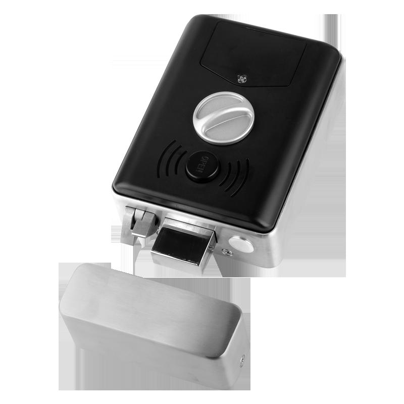 ZUCON sk-01指纹一体锁电控出租房庭院防水不锈钢免布线刷卡密码门禁