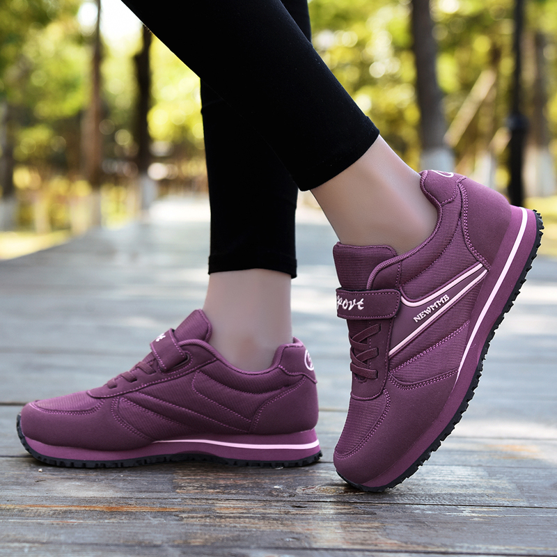 Spring and autumn new old walking shoes lightweight mother sports shoes non-slip soft bottom old shoes middle-aged women's shoes sneakers