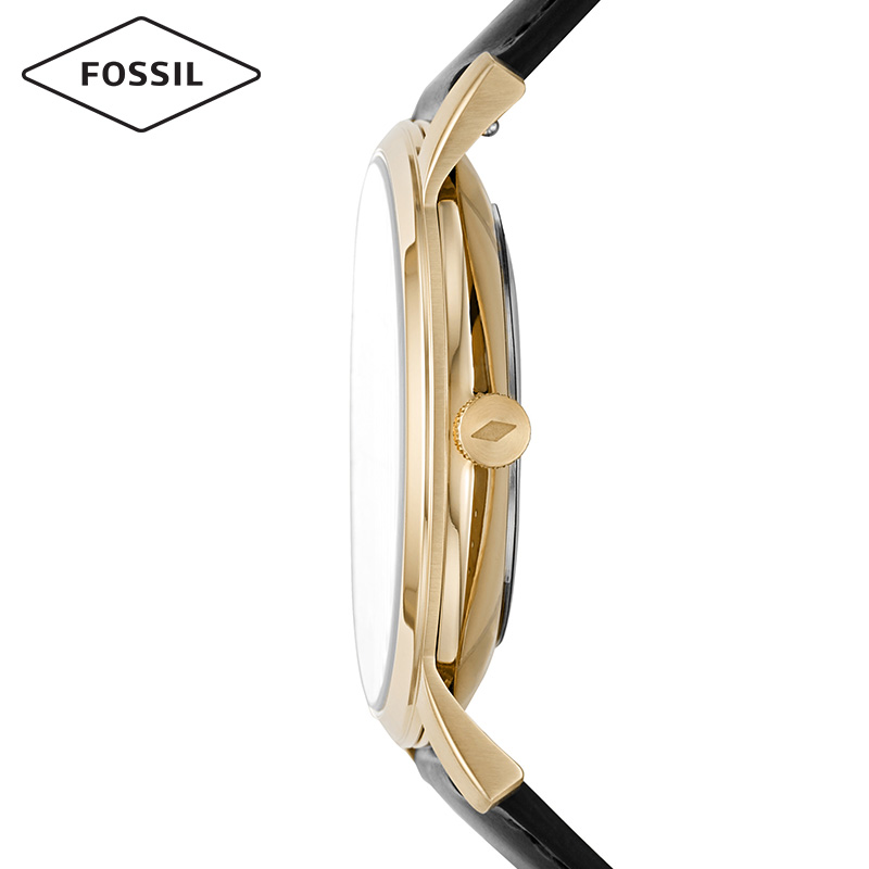 Fossil2019秋季新品日月更换月相表牛皮石英腕表情侣对表男女表