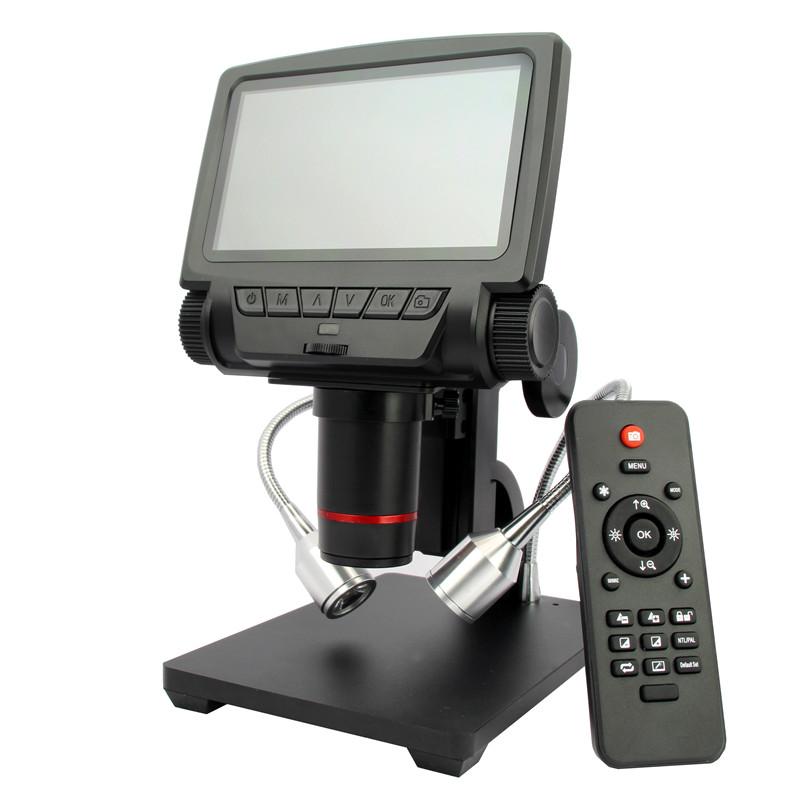 安东星1200万HDMI-USB高清带屏数码电子显微镜手机维修电路板PCB焊接放大镜ADSM301工业测量视频显微镜钟表