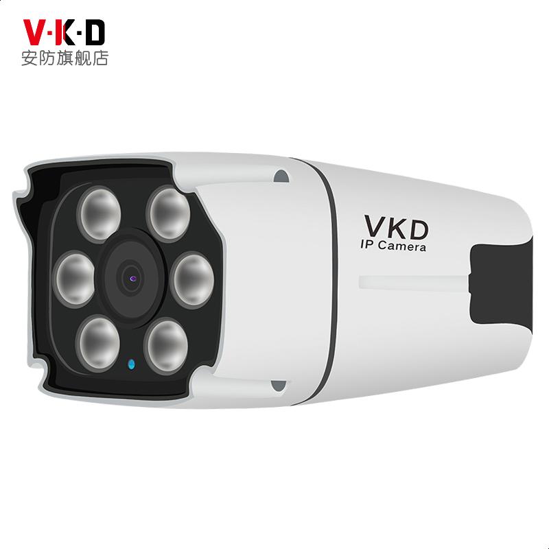 poe网络监控摄像头H.265+室外高清夜视机红外1080P数字六灯探头器