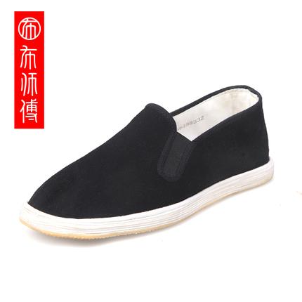老北京布鞋男牛筋底防滑布鞋男工作鞋布鞋军板布鞋中老年一脚蹬鞋