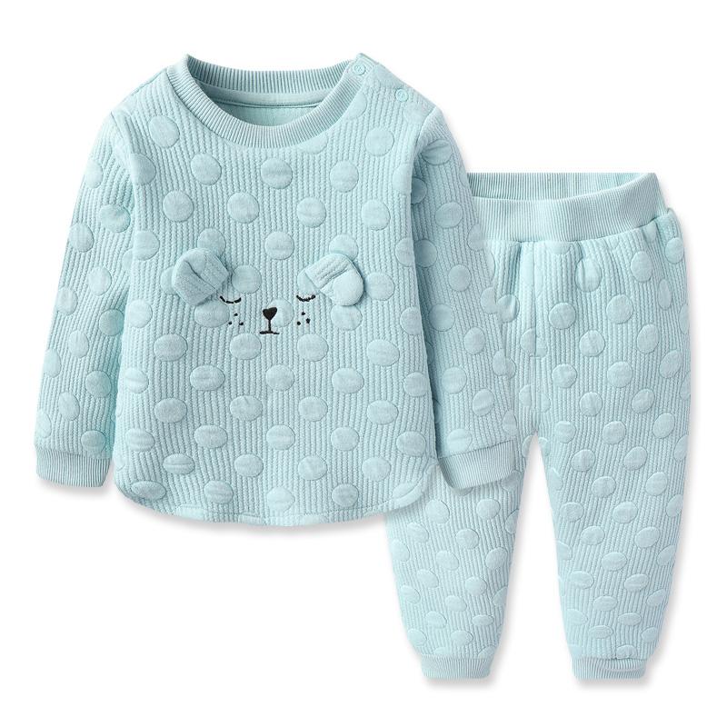 好孩子2018秋冬新款儿童套装 男女童长袖套装 婴童小童外出服春秋