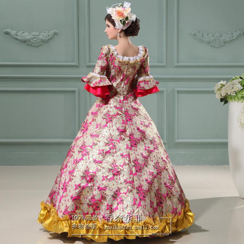 女士宫廷服欧式英皇宫廷服装舞台话剧演出服礼服复古