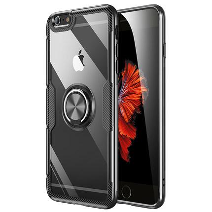 苹果6splus手机壳iphone6plus透明玻璃6s防摔硅胶6p潮全包保护套sp六ip外壳i带s指环ipone支架女男平果i6puls