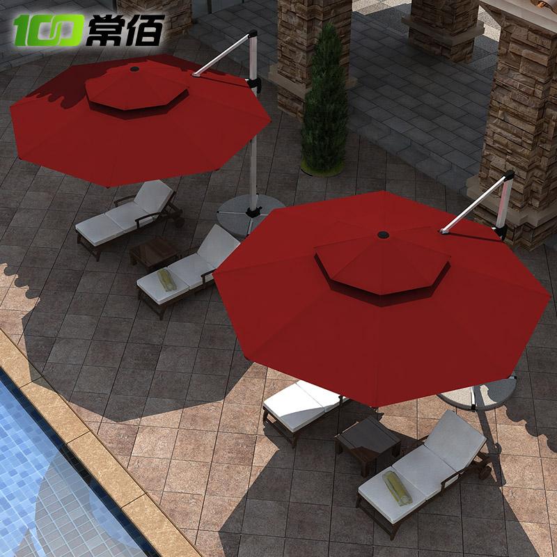 常佰户外遮阳伞四方罗马伞庭院伞花园别墅室外大型太阳伞露台折叠
