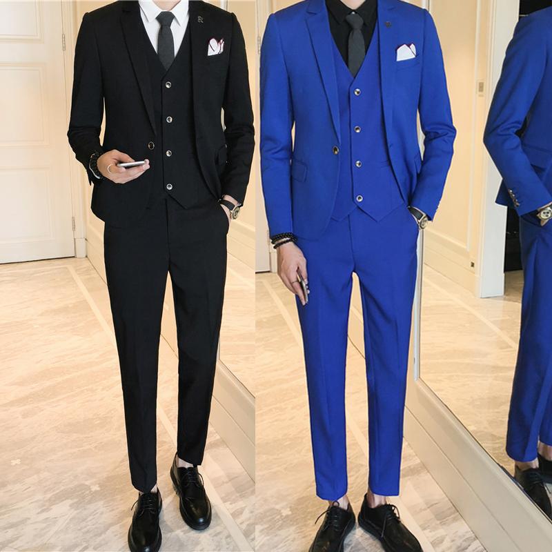 ឈុតអាវធំសម្រាប់បុរស Autumn Work Clothes New Casual Slim Fit One Suit Blazer Business Coat Suits Jacket Suits Men CA0052