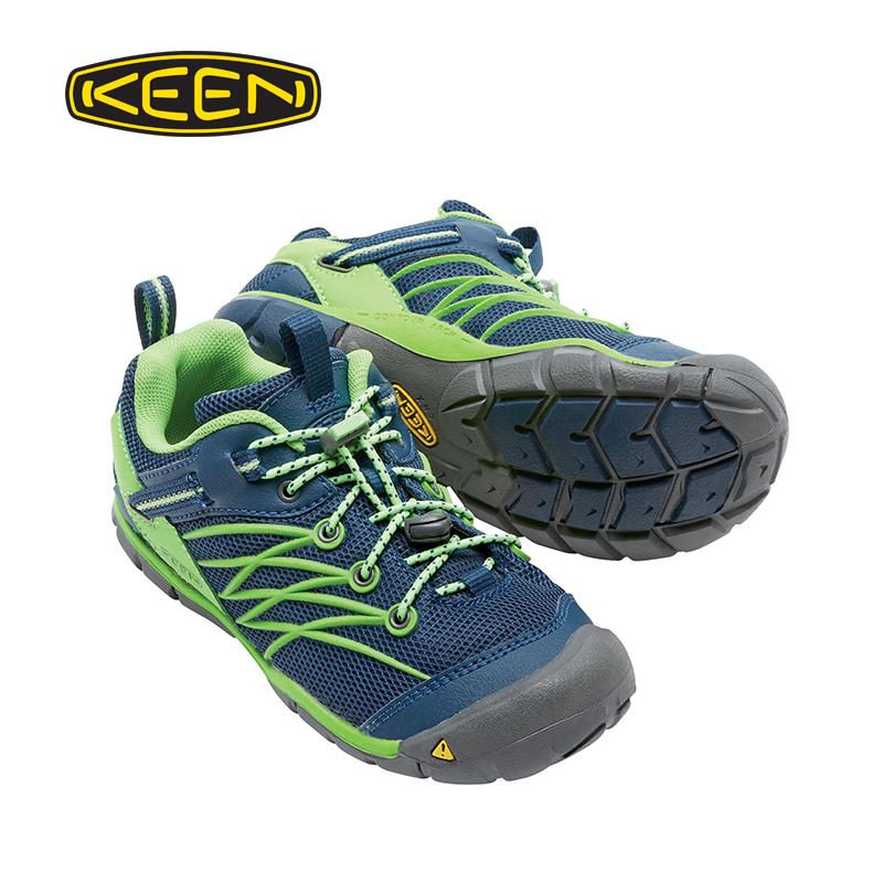 人气KEEN春季CHANDLER耐磨儿童徒步防滑短途网面登山鞋101001