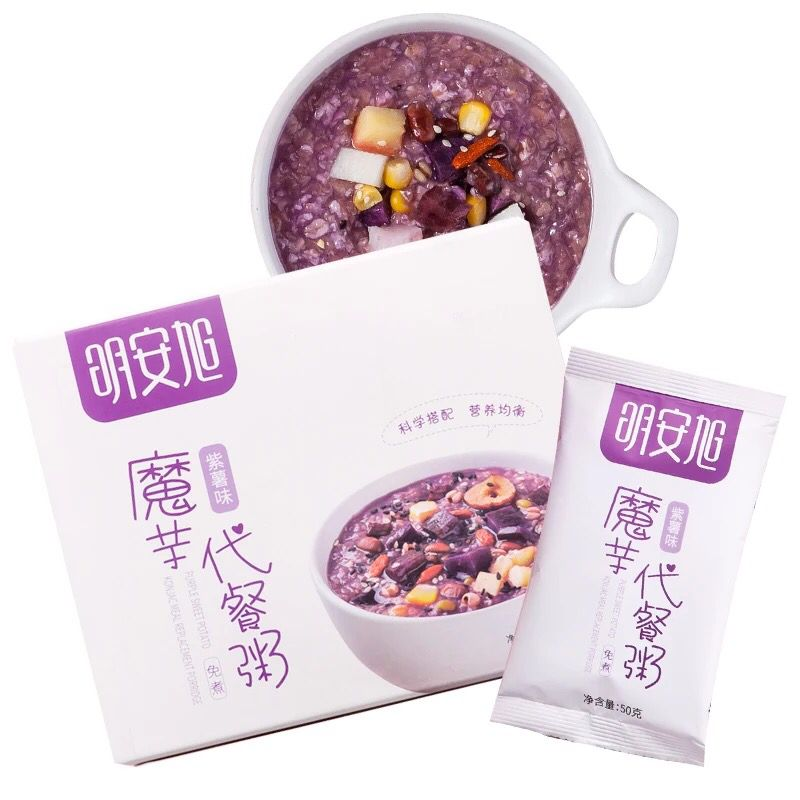 明安旭魔芋代餐粥五谷杂粮红豆薏米低紫薯食品卡营养饱腹早代餐粉