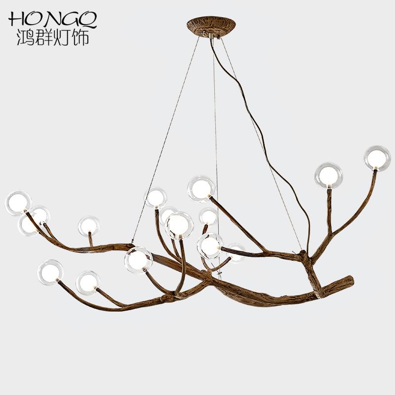 北欧后现代LED魔豆吊灯客厅餐厅卧室书房创意个性树枝分子灯具