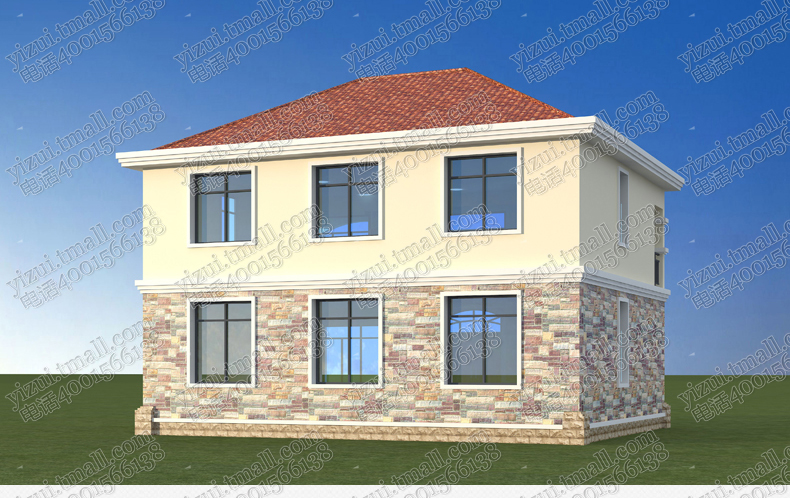 经济型农村自建房别墅图纸二层盖楼房户型建筑设计全套施工图方案图片